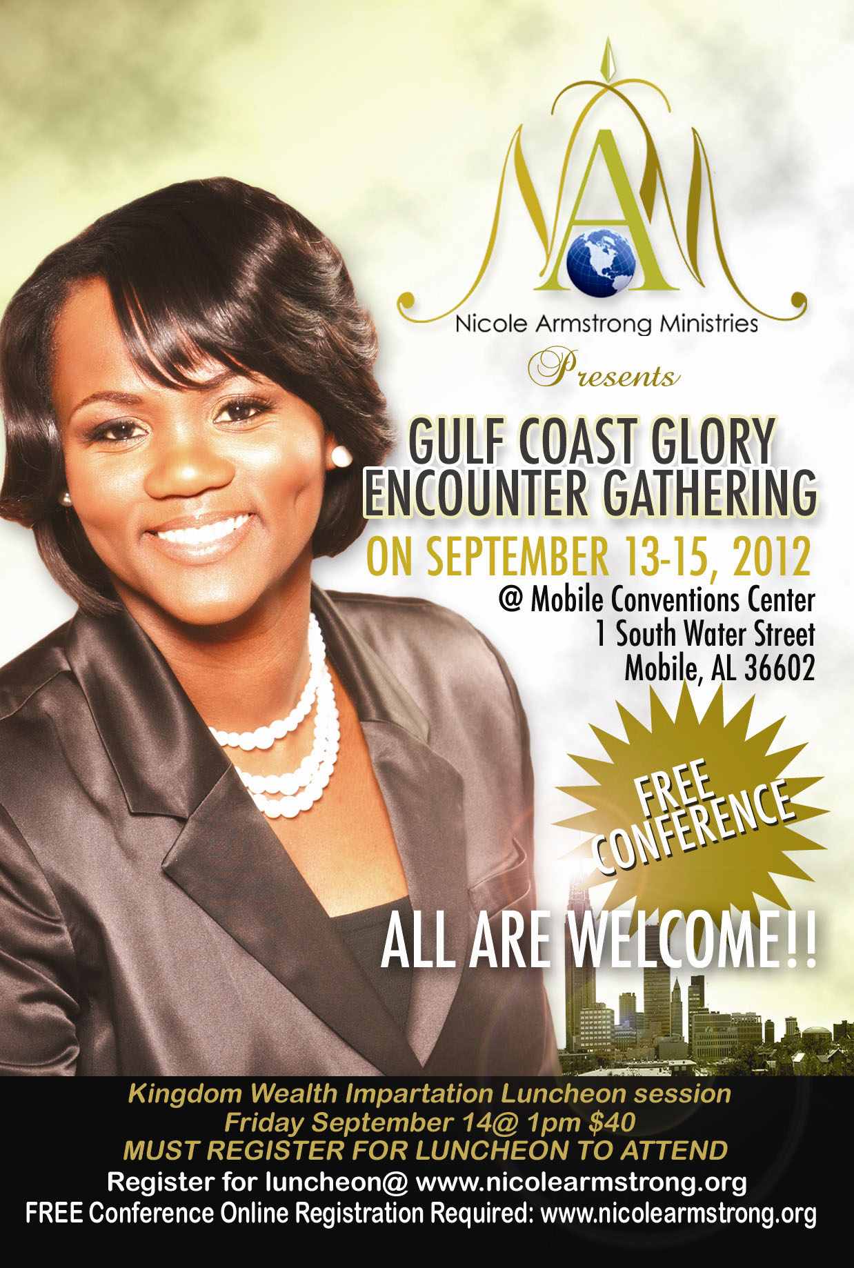 Gulf Coast Glory Encounter, hosted by Nicole Armstrong Ministries
