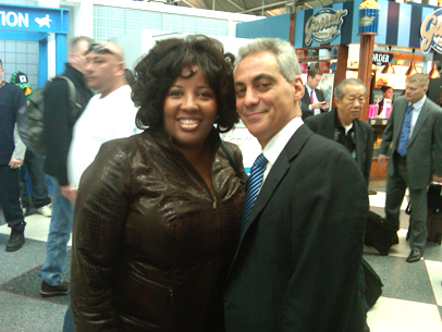 Evg. Riley and Mayor Rham Emanuel