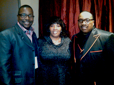 Evg. Riley and Dr. Marvin Sapp, and Henry Sapp